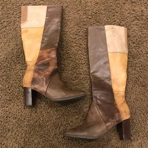 Shoes - Tall multi-color boots, size 9.5